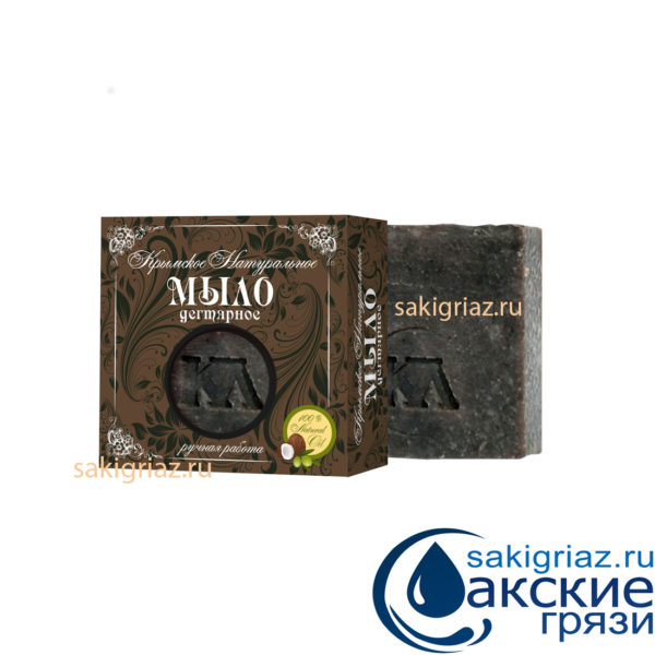 Крымское натуральное мыло ДЕГТЯРНОЕ, 92 г