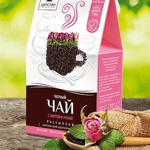 Черный чай с мятой и розой